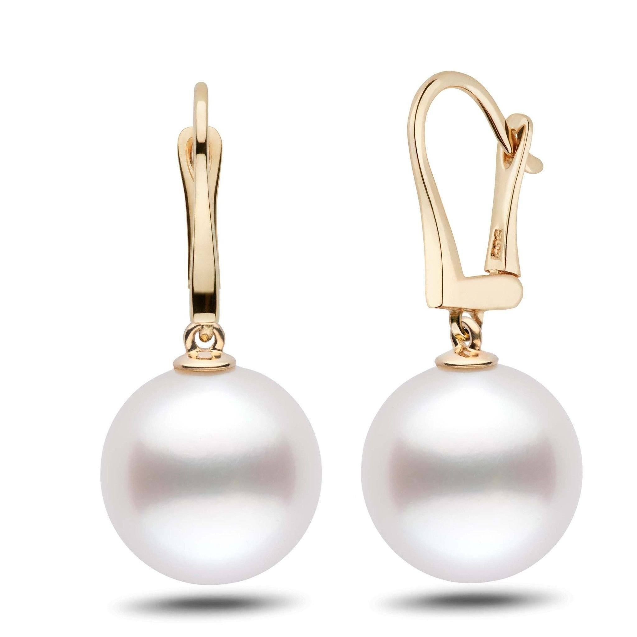 Classic Collection White South Sea 13.0-14.0 mm Pearl Dangle Earrings