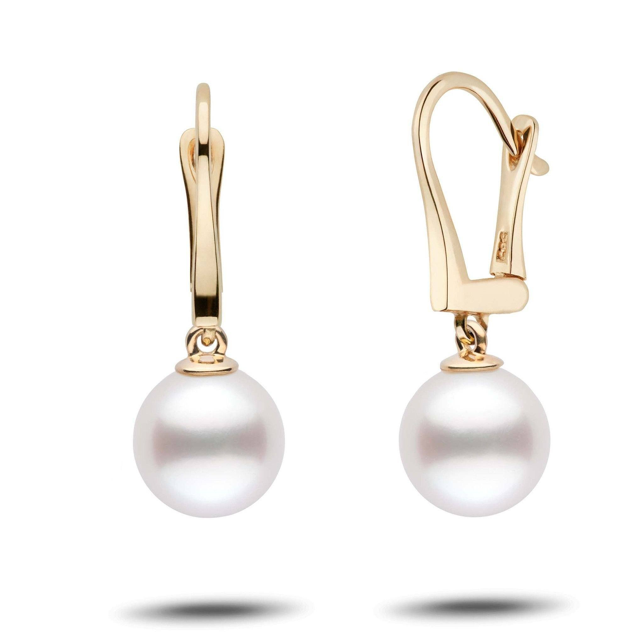 Classic Collection White South Sea 9.0-10.0 mm Pearl Dangle Earrings