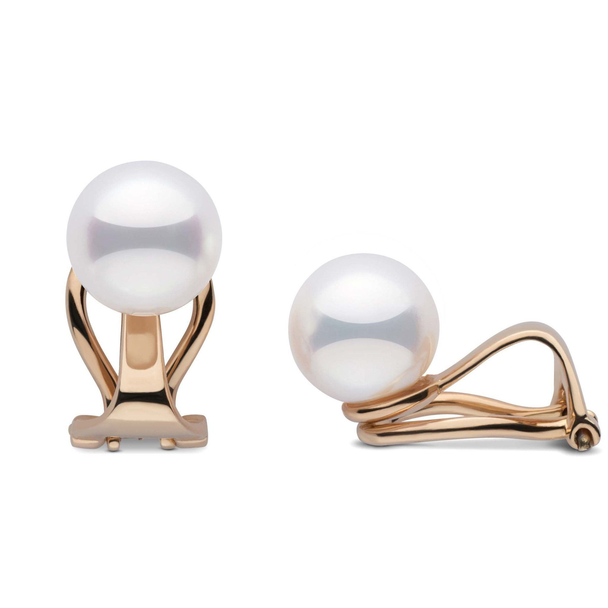 Clip Collection Akoya 7.5-8.0 mm Pearl Stud Earrings
