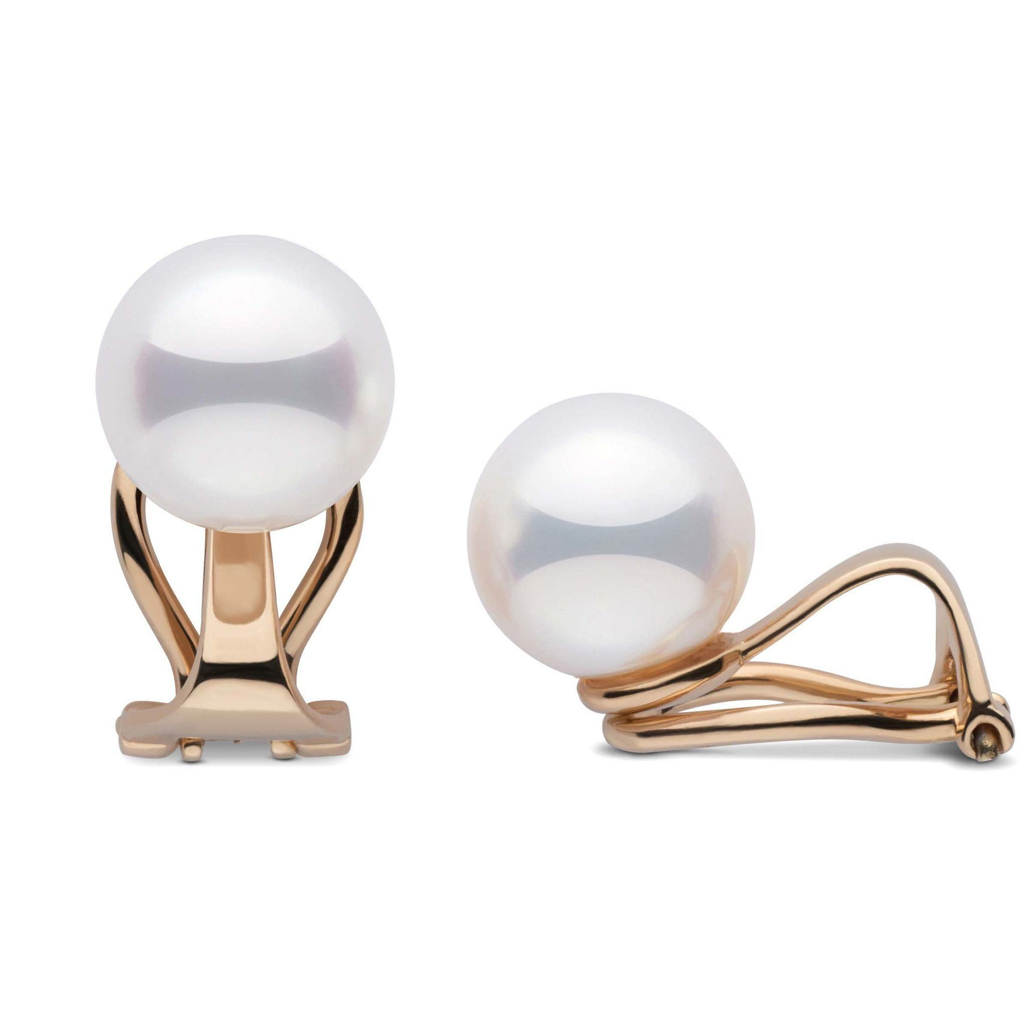 Clip Collection Akoya 8.5-9.0 mm Pearl Stud Earrings