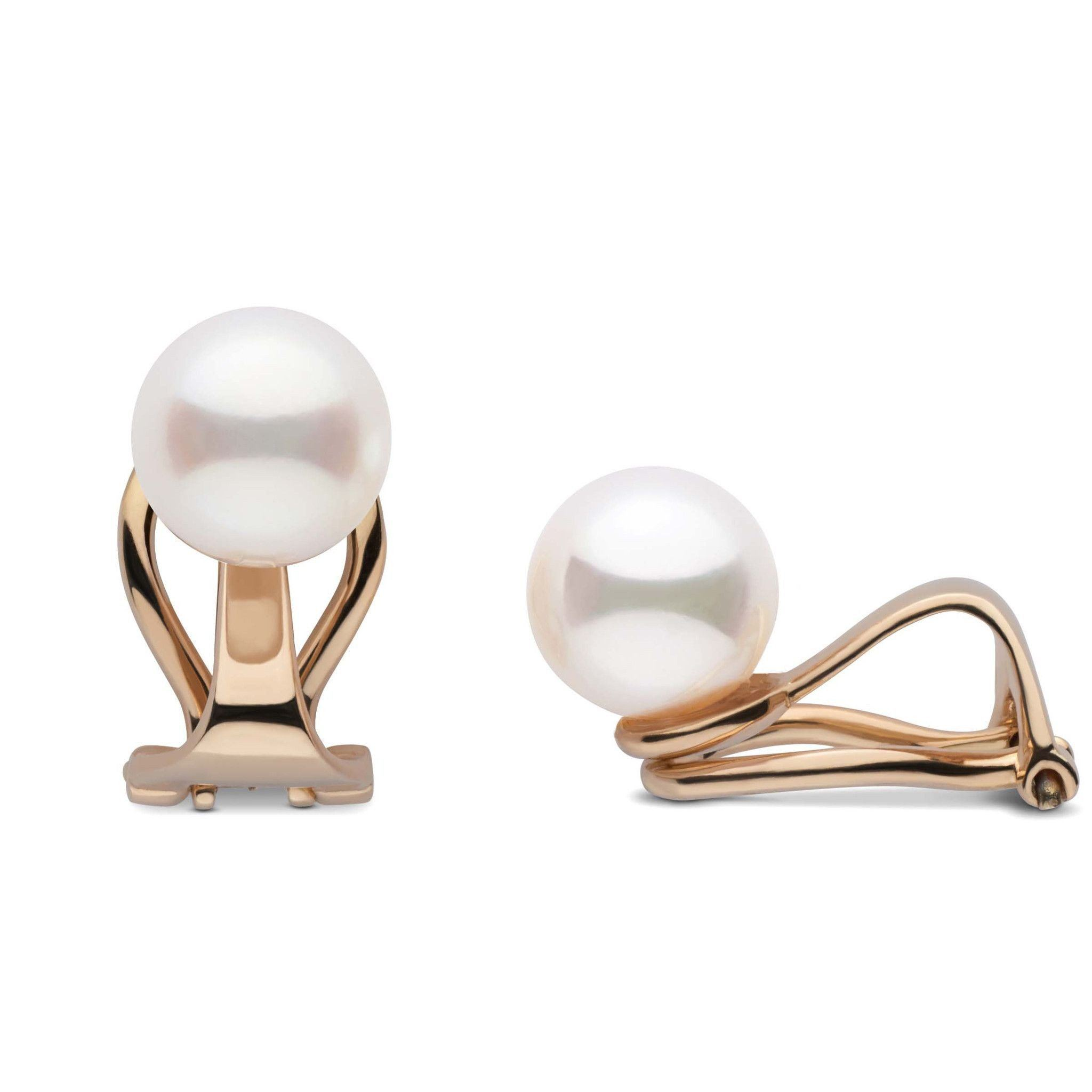 Clip Collection Freshadama 7.5-8.0 mm Pearl Stud Earrings