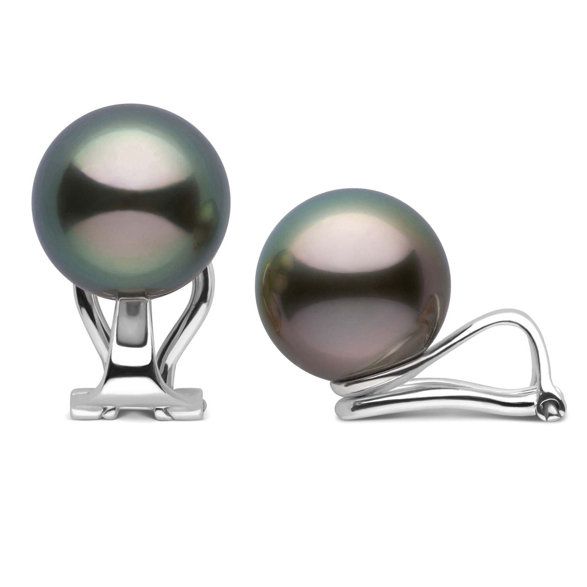 Clip Collection Tahitian 10.0-11.0 mm Pearl Stud Earrings