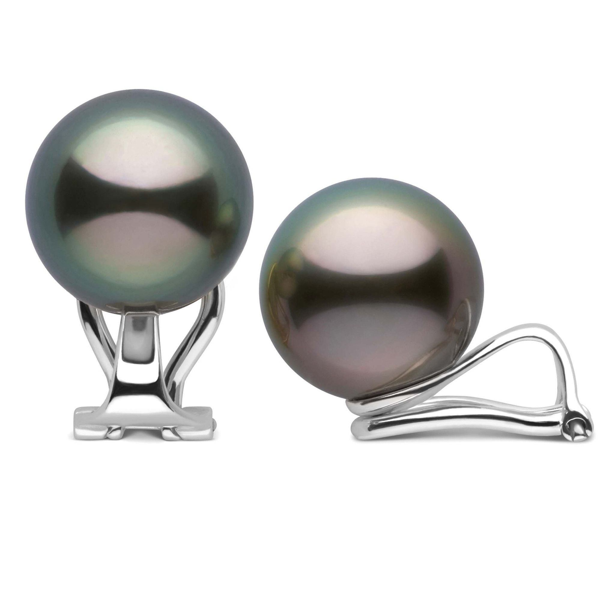 Clip Collection Tahitian 11.0-12.0 mm Pearl Stud Earrings