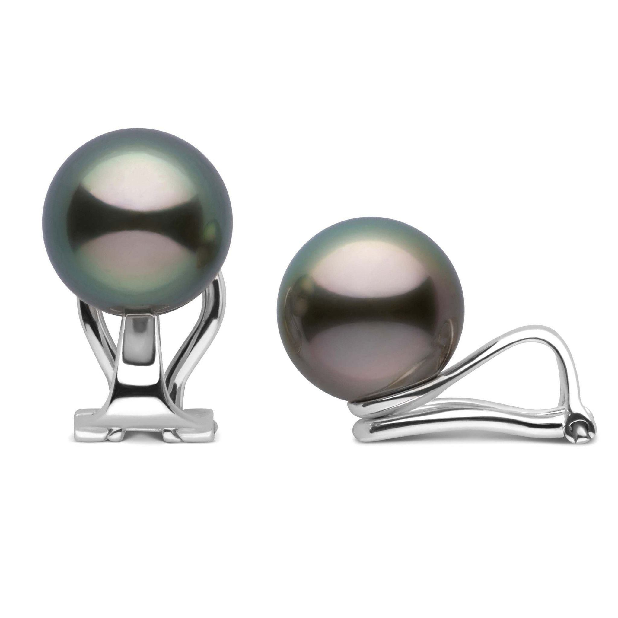Clip Collection Tahitian 9.0-10.0 mm Pearl Stud Earrings