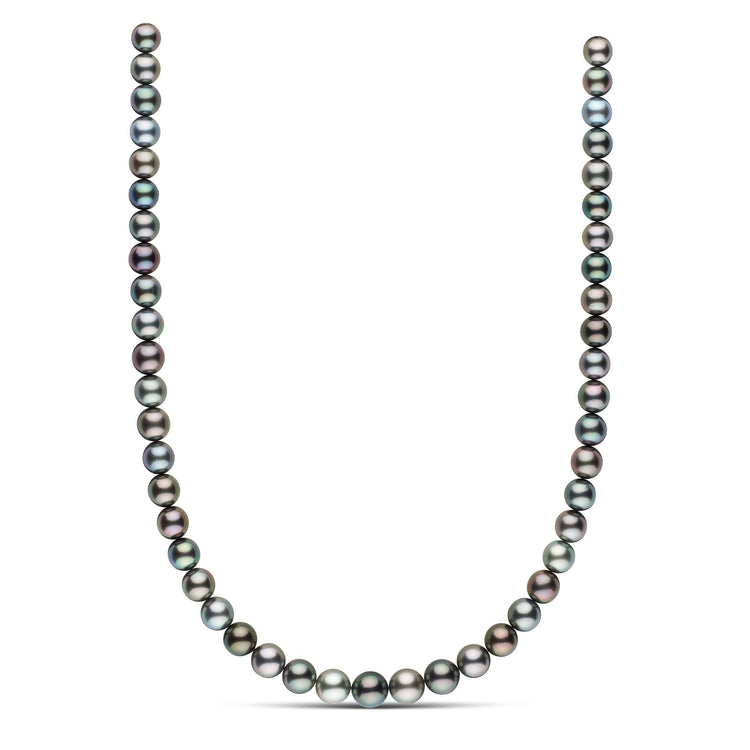 18-inch 8.0-9.8 mm AAA Round Tahitian Pearl Necklace