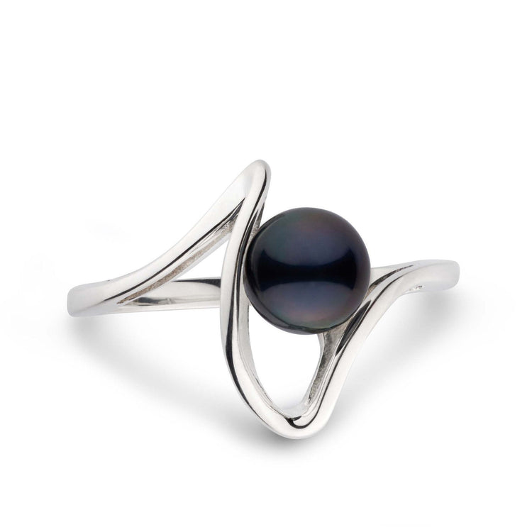 Cordon Collection Black Akoya Pearl Ring