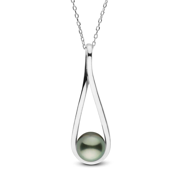 Tahitian pearl pendants pearl paradise cradle collection tahitian pearl pendant in sterling silver on sale aloadofball Image collections