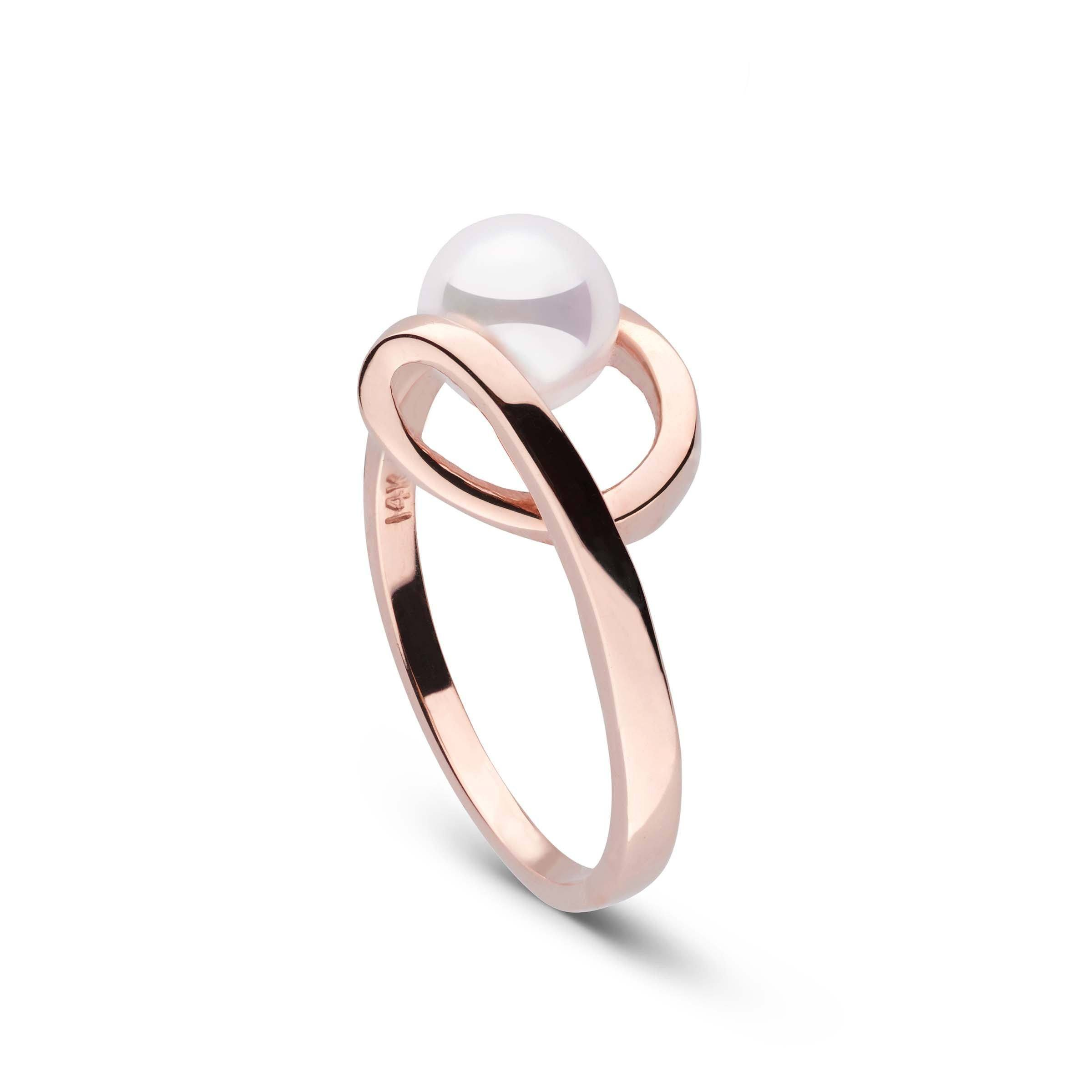 Cursive Collection Akoya Pearl Ring