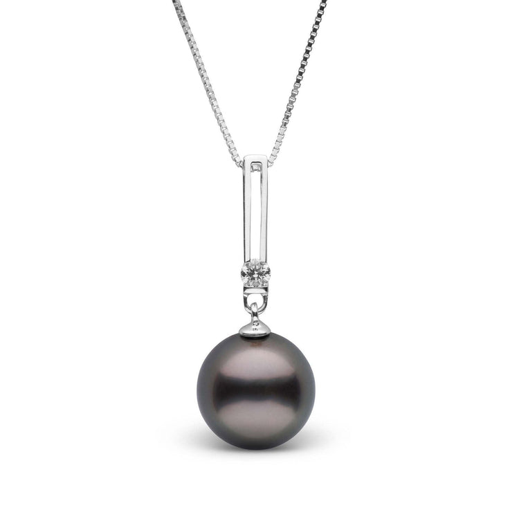 Deco Collection 9.0-10.0 mm Tahitian Pearl & Diamond Pendant