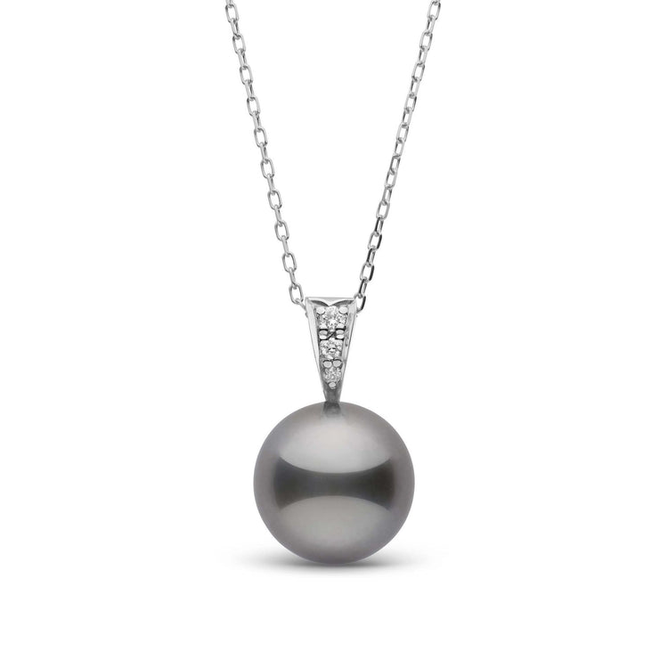 Desire Collection 10.0-11.0 mm Tahitian Pearl and Diamond Pendant