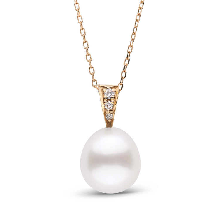 Desire Collection Drop White 9.0-10.0 mm South Sea Pearl and Diamond Pendant