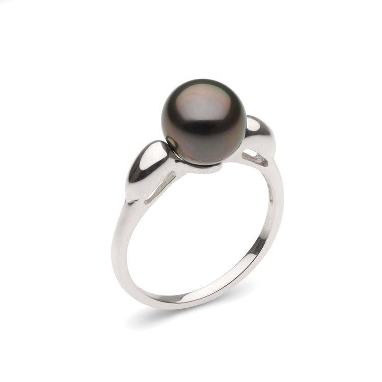 Dew Collection Tahitian Pearl Ring in Sterling Silver