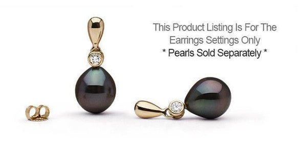 Settings pearl paradise dew diamond earrings setting only mozeypictures Choice Image