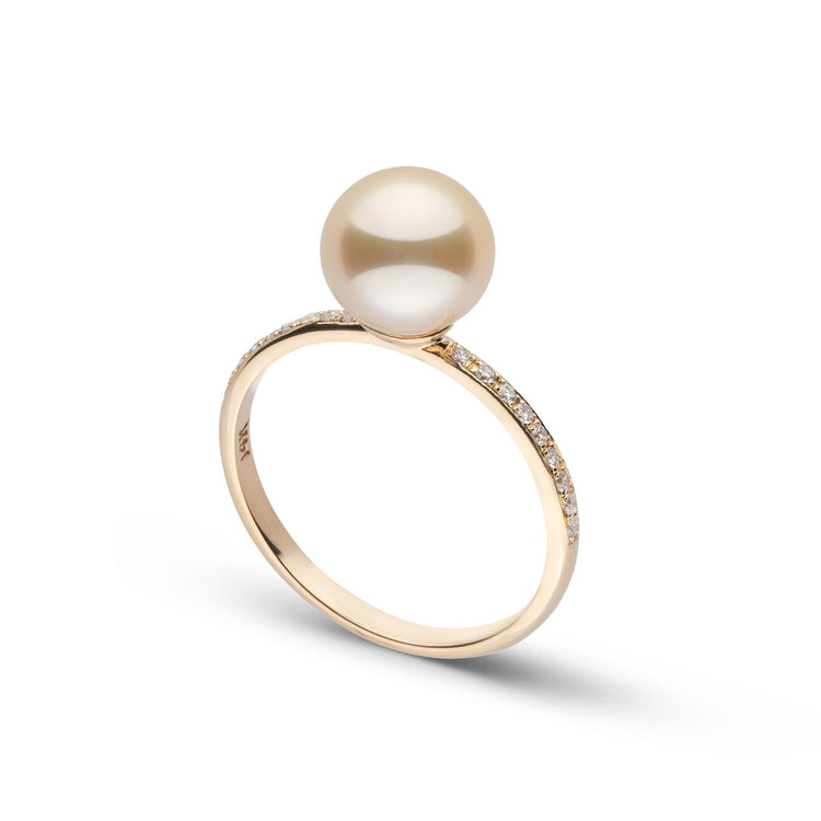 Diamond Classic Collection Golden South Sea Pearl Ring