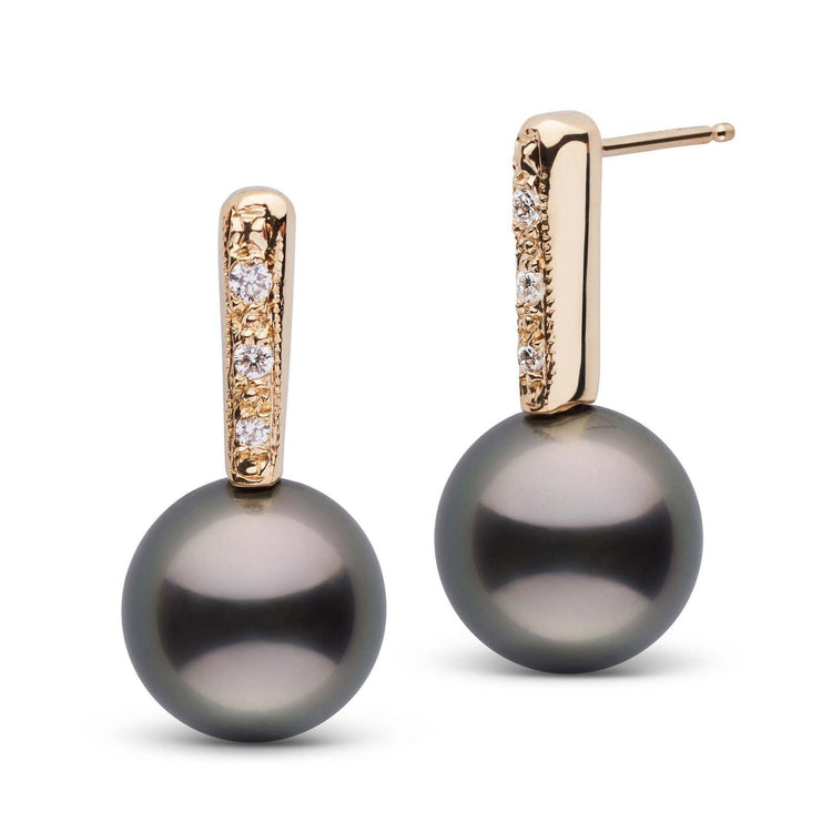 Divine Collection Tahitian 10.0-11.0 mm Pearl and Diamond Earrings