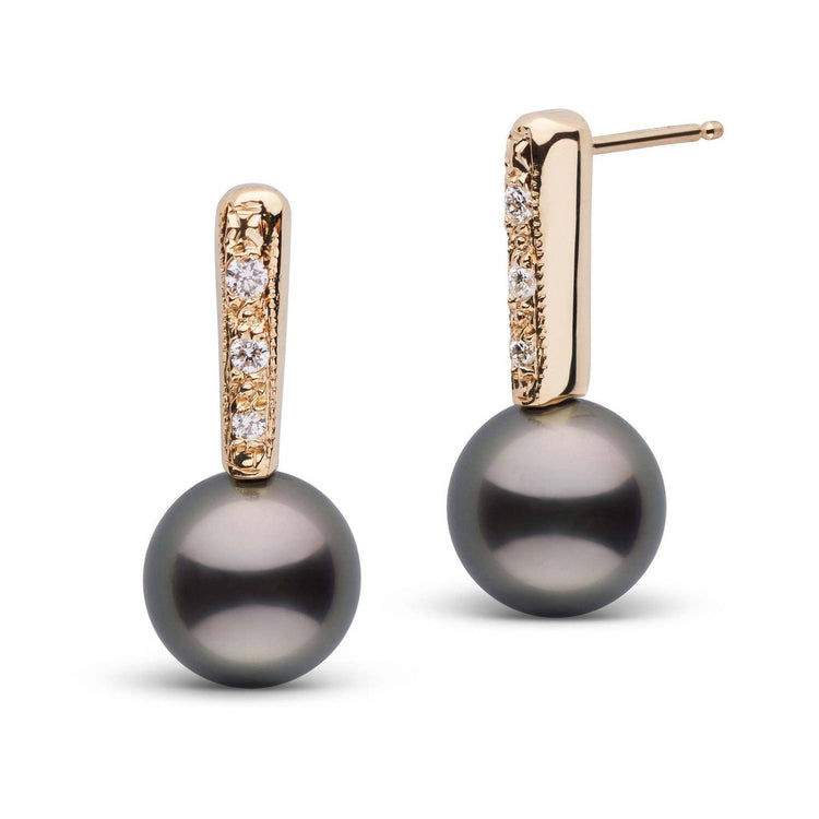 Divine Collection Tahitian 8.0-9.0 mm Pearl and Diamond Earrings