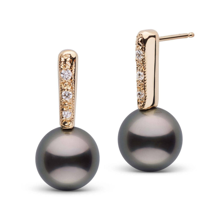 Divine Collection Tahitian 9.0-10.0 mm Pearl and Diamond Earrings