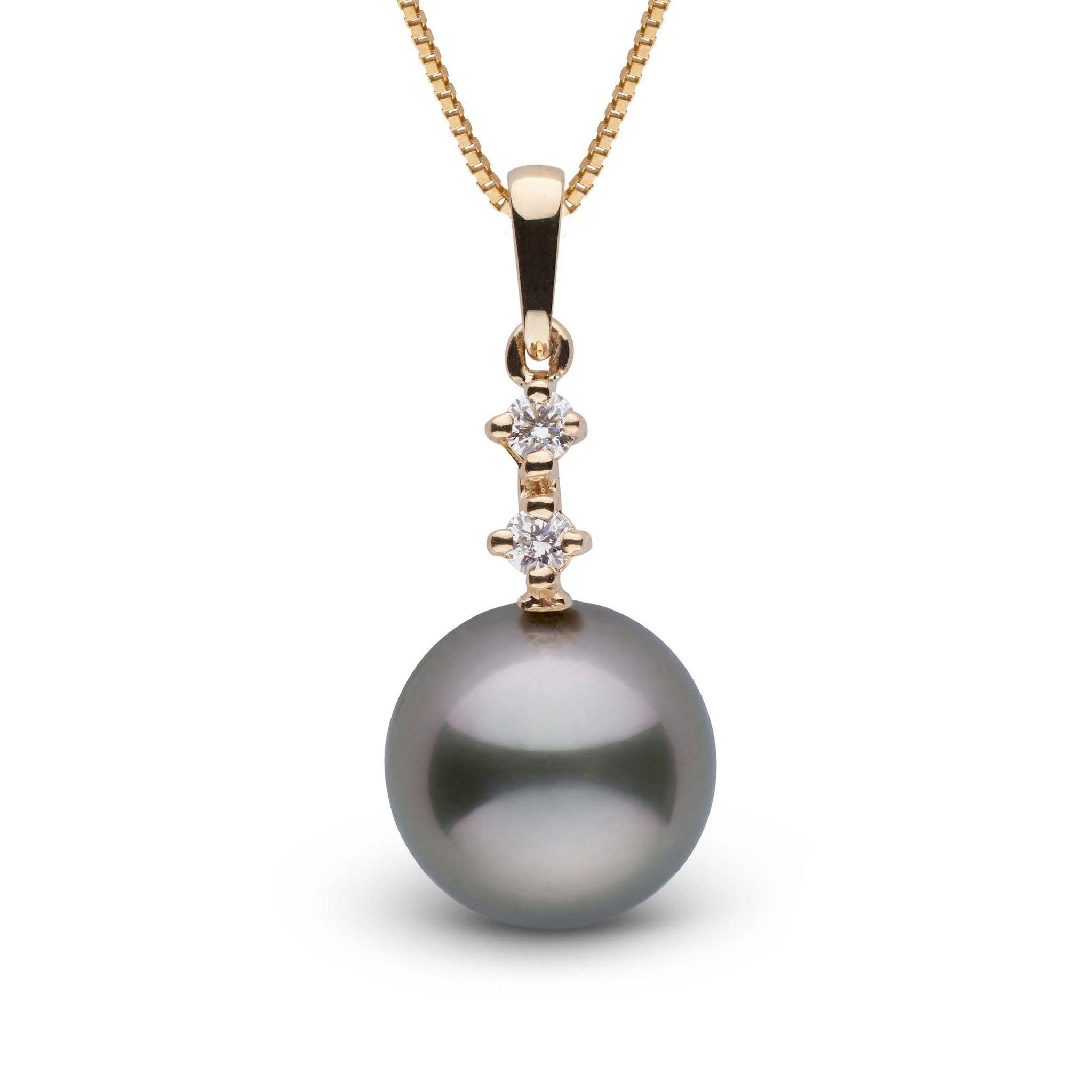 Duet Collection 11.0-12.0 mm Tahitian Baroque Pearl and Diamond Pendant