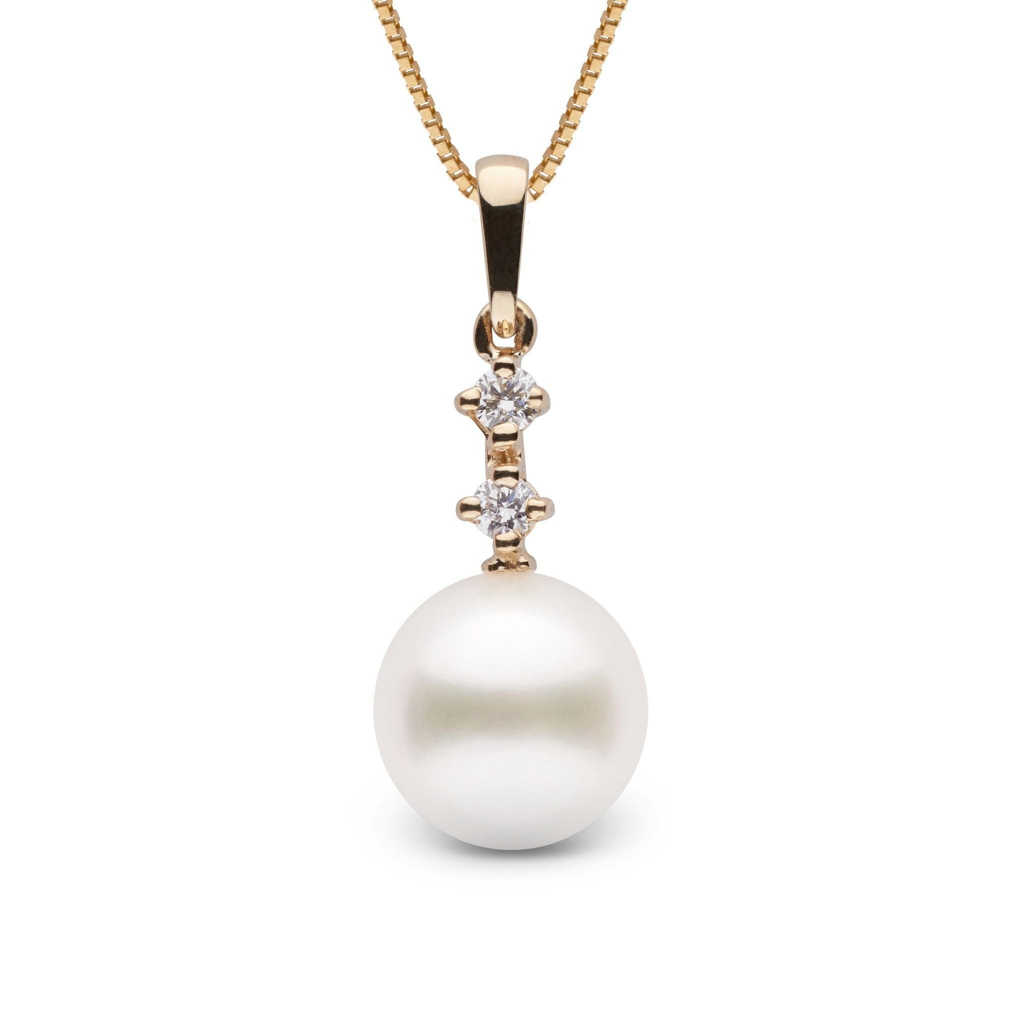 Duet Collection 9.0-10.0 mm Freshadama Pearl and Diamond Pendant