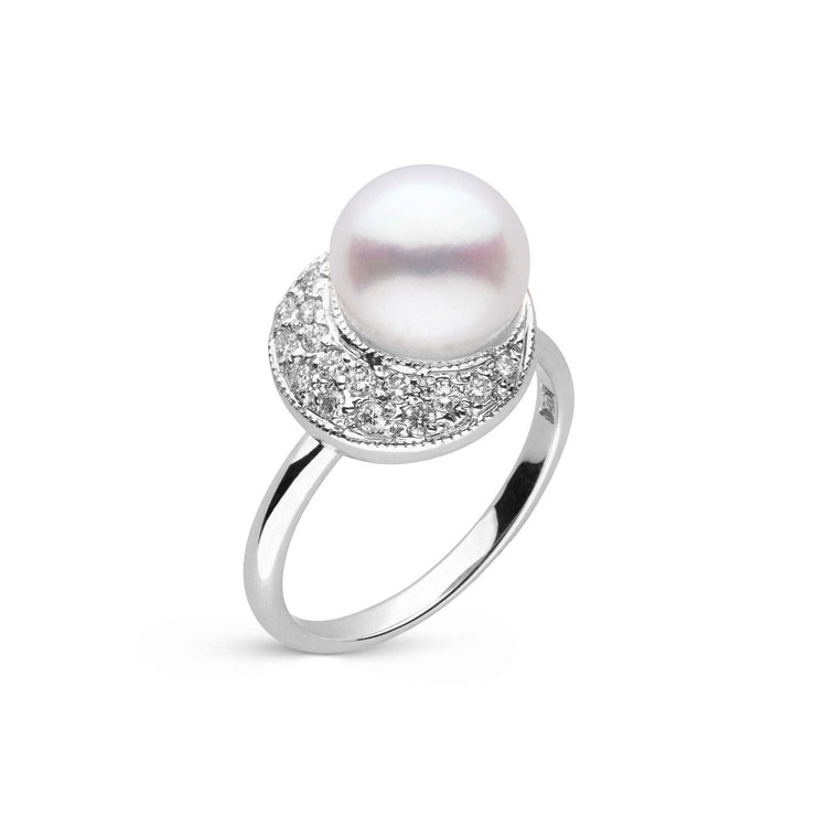 Eclipse Collection Freshadama Pearl and Diamond Ring