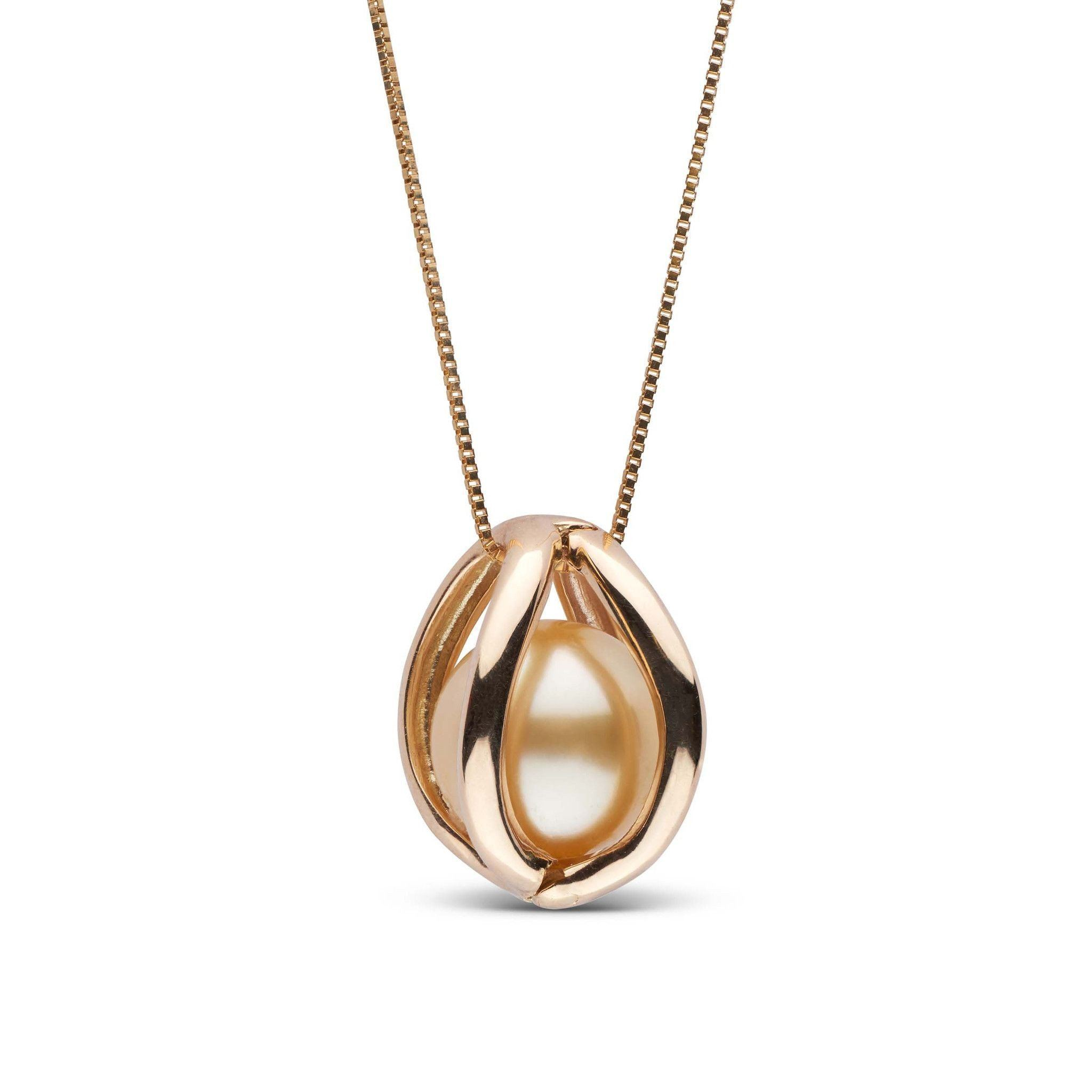 Embrace Collection 10.0-11.0 mm Golden South Sea Pearl Pendant