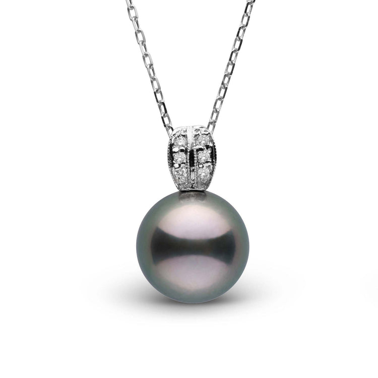 Enchant Collection 10.0-11.0 mm Tahitian Pearl and Diamond Pendant