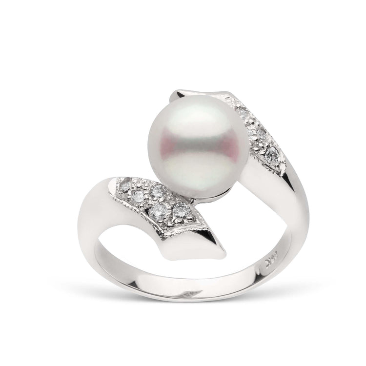 Entwine Collection Akoya Pearl and Diamond Ring