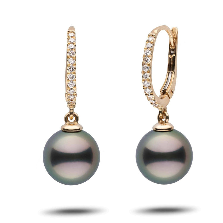 Eternal Collection Tahitian 10.0-11.0 mm Pearl & Diamond Dangle Earrings