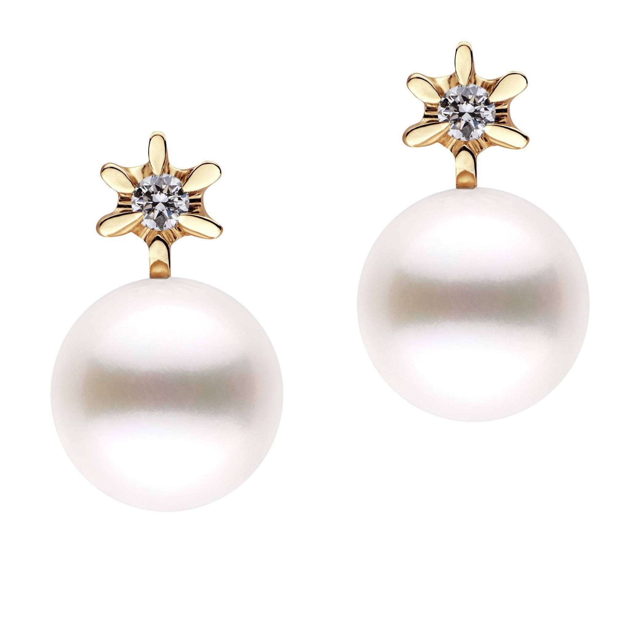 Ethereal Collection Freshadama Pearl and Diamond Earrings