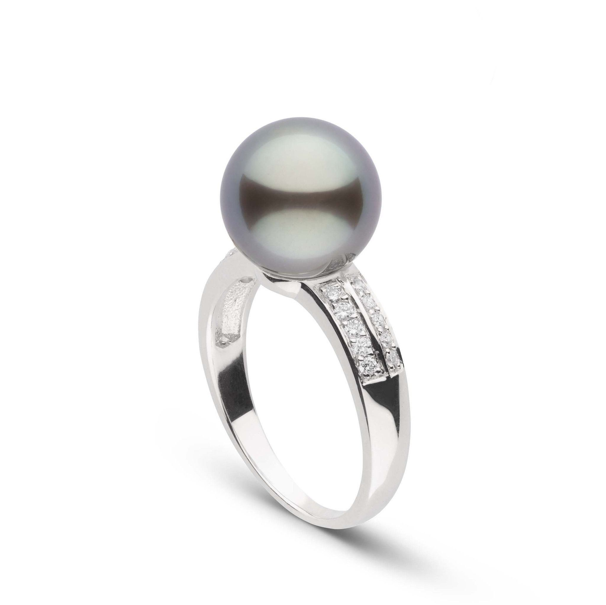 Forever Collection 10.0-11.0 mm Tahitian Pearl and Diamond Ring