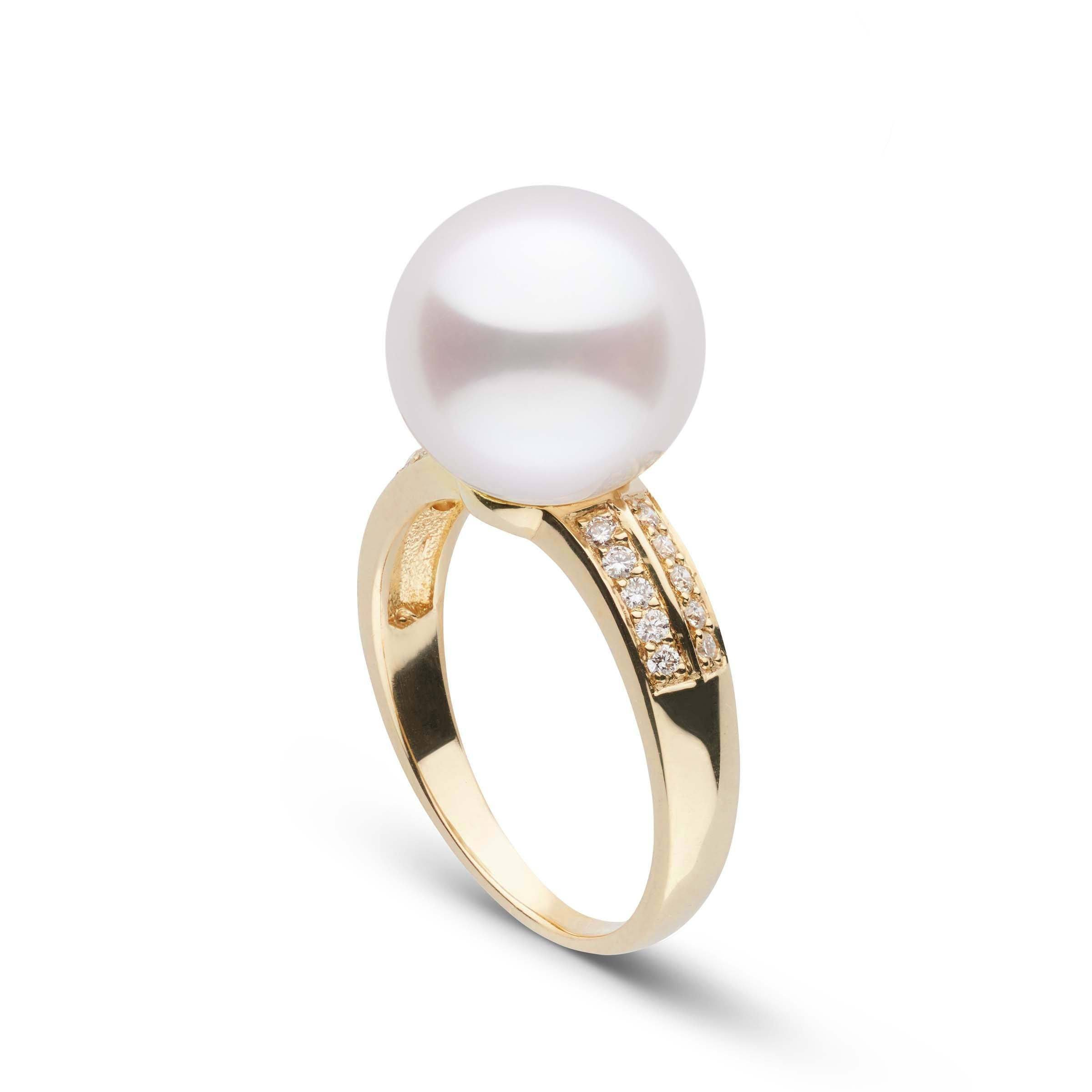 Forever Collection 11-12 mm White South Sea Pearl and Diamond Ring