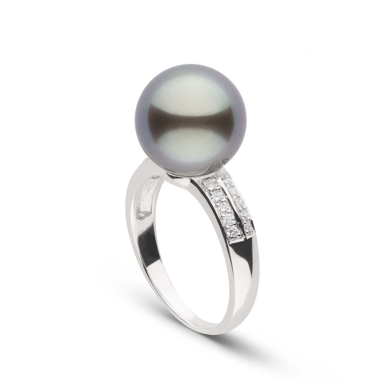 Forever Collection 11.0-12.0 mm Tahitian Pearl and Diamond Ring