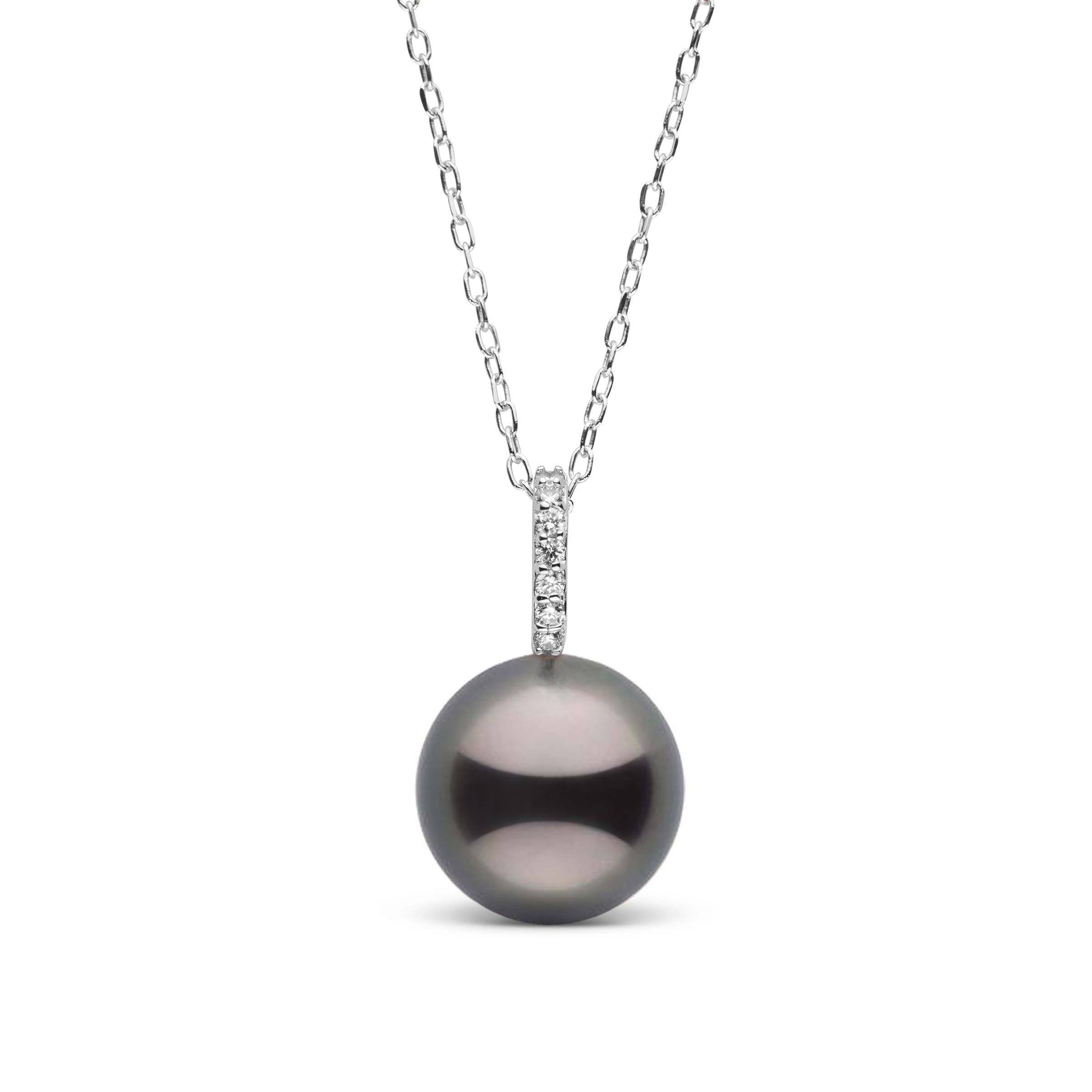 Forever Collection Tahitian Pearl and Diamond Pendant