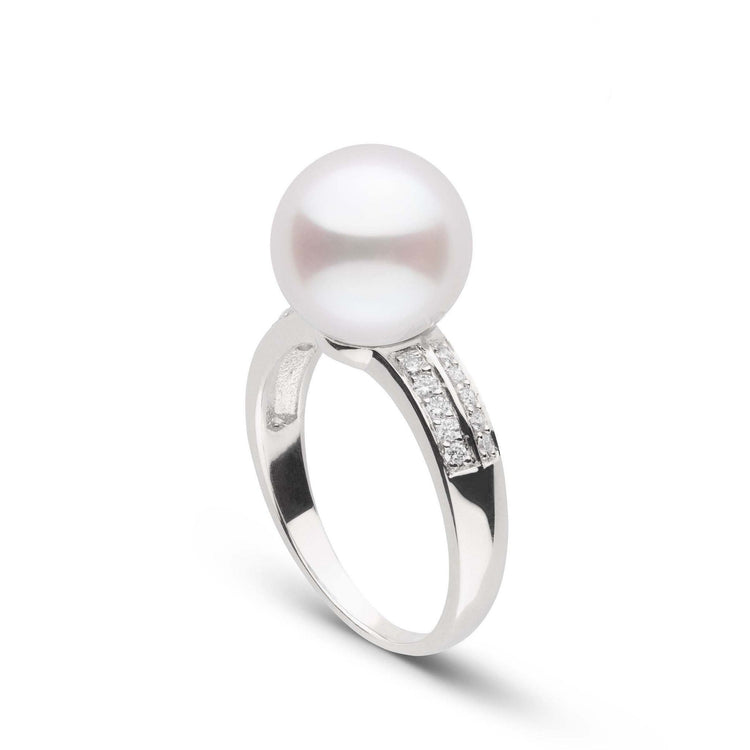 Forever Collection 10-11 mm White South Sea Pearl and Diamond Ring