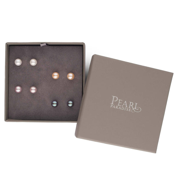 4-Piece Freshwater Pearl Earring Set