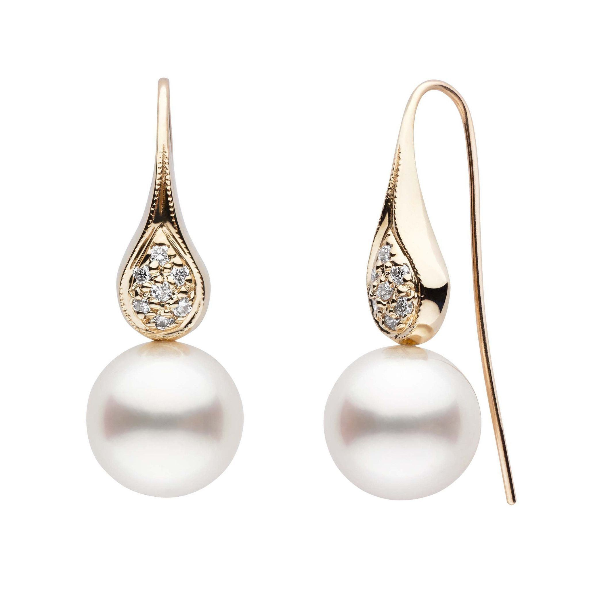 Frost Collection White South Sea Pearl and Diamond Earrings