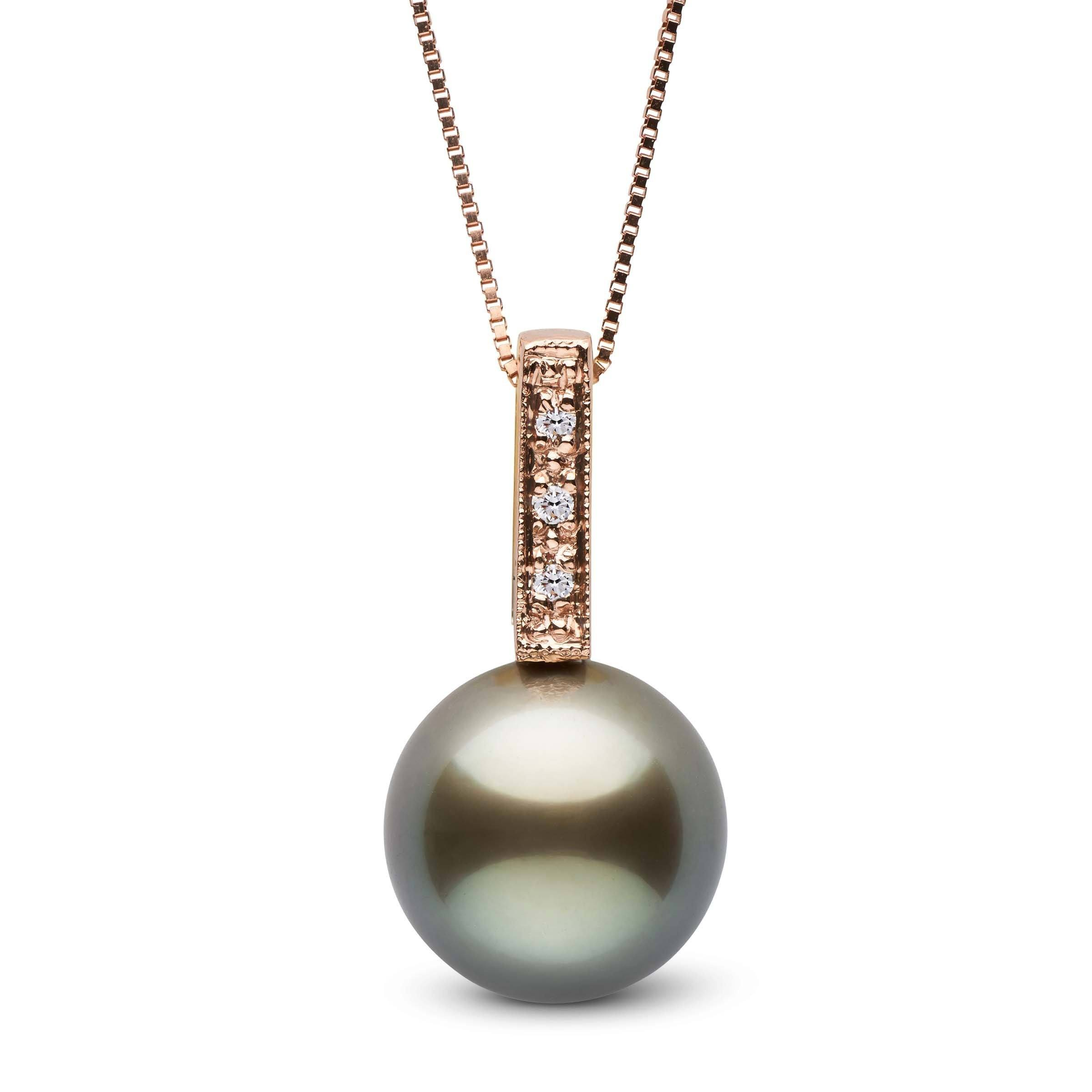 Glitz Collection Tahitian Pearl and Diamond Pendant