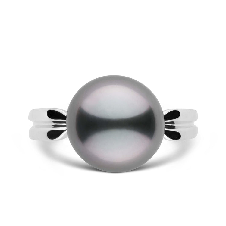 Goddess Collection 11.0-12.0 mm Tahitian Pearl Ring in Sterling Silver
