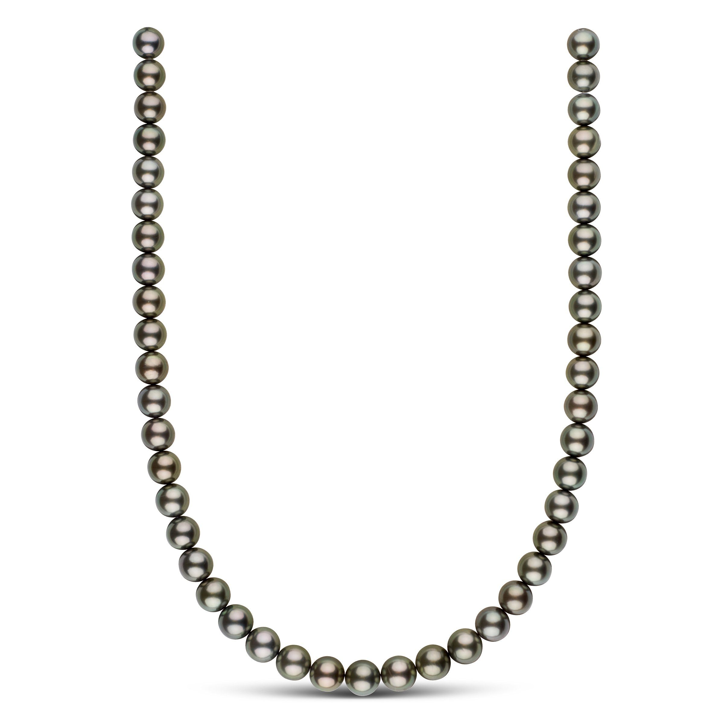 9.0-9.9 mm AAA Tahitian Round Pearl Necklace