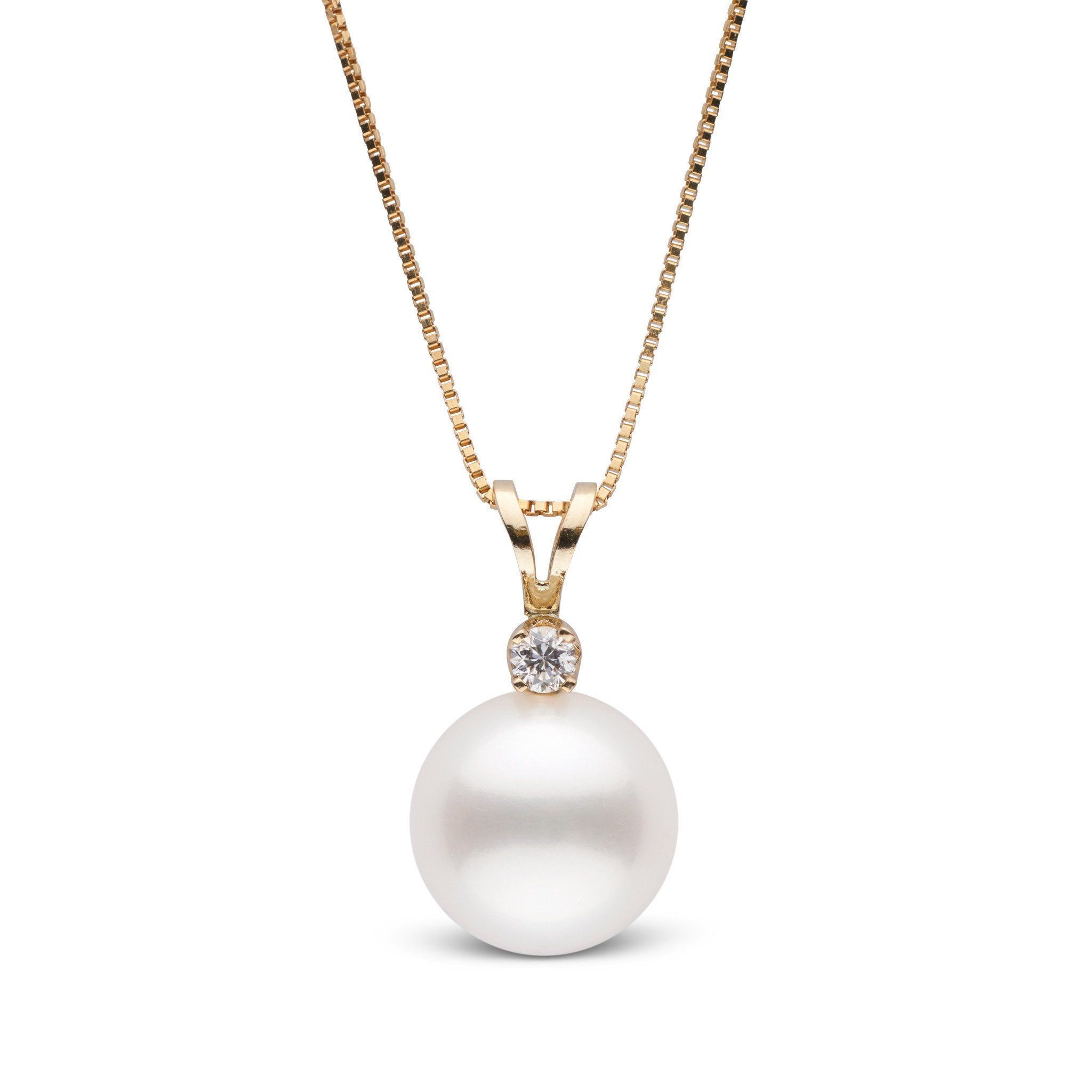 Harmony Collection 10.0-11.0 mm Freshadama Freshwater Pearl & Diamond Pendant