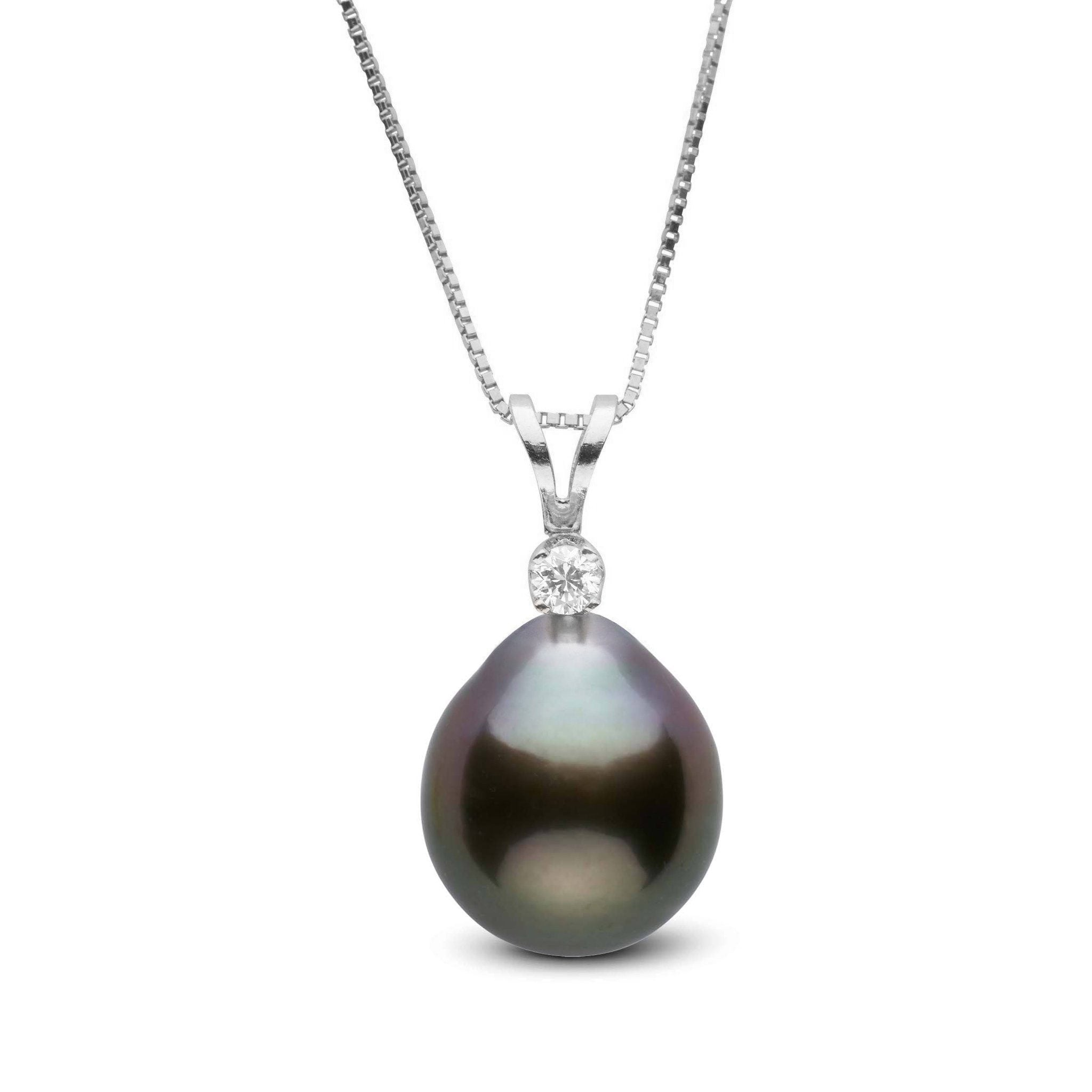 Harmony Collection 10.0-11.0 mm Drop Tahitian Pearl & Diamond Pendant