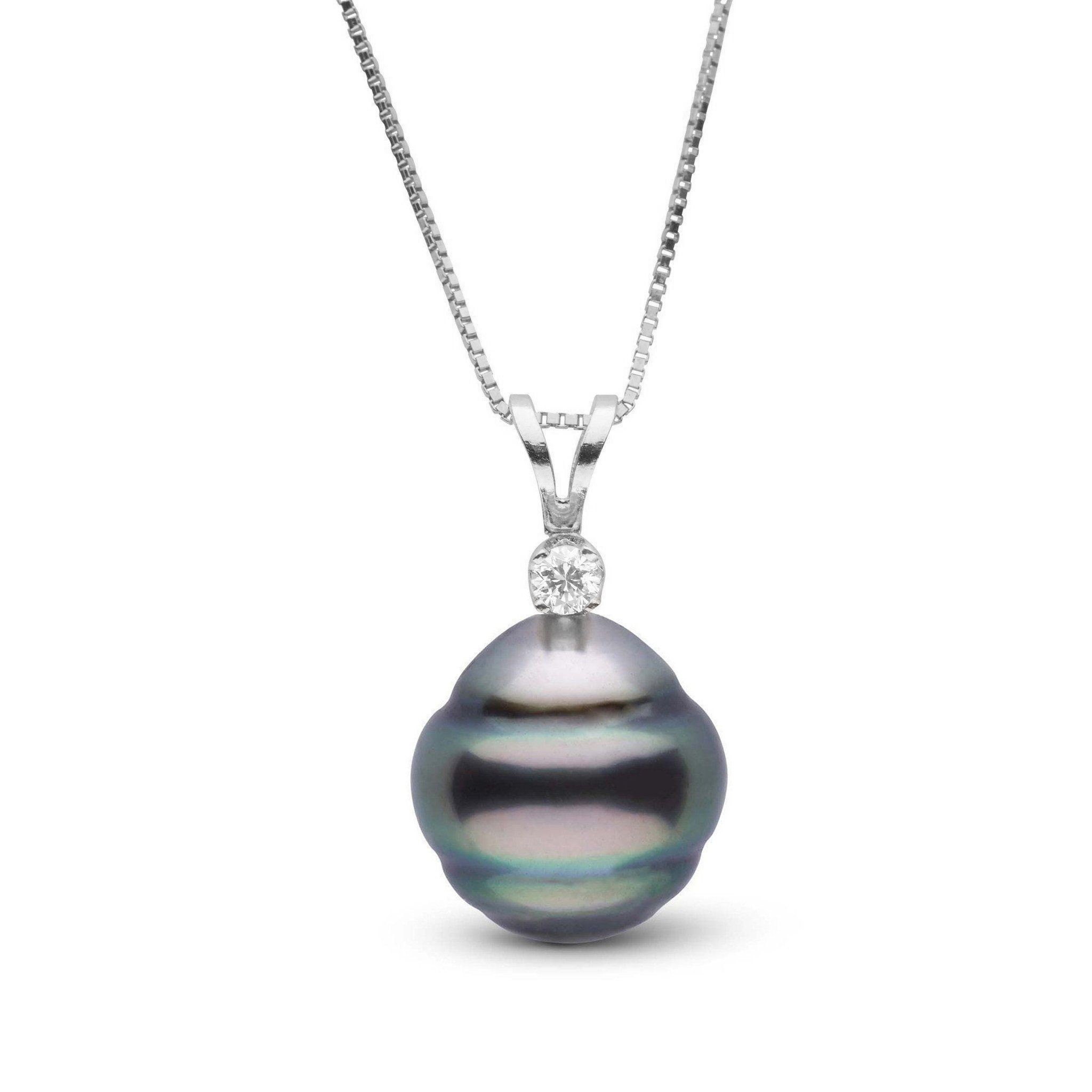 Harmony Collection 11.0-12.0 mm Baroque Tahitian Pearl & Diamond Pendant
