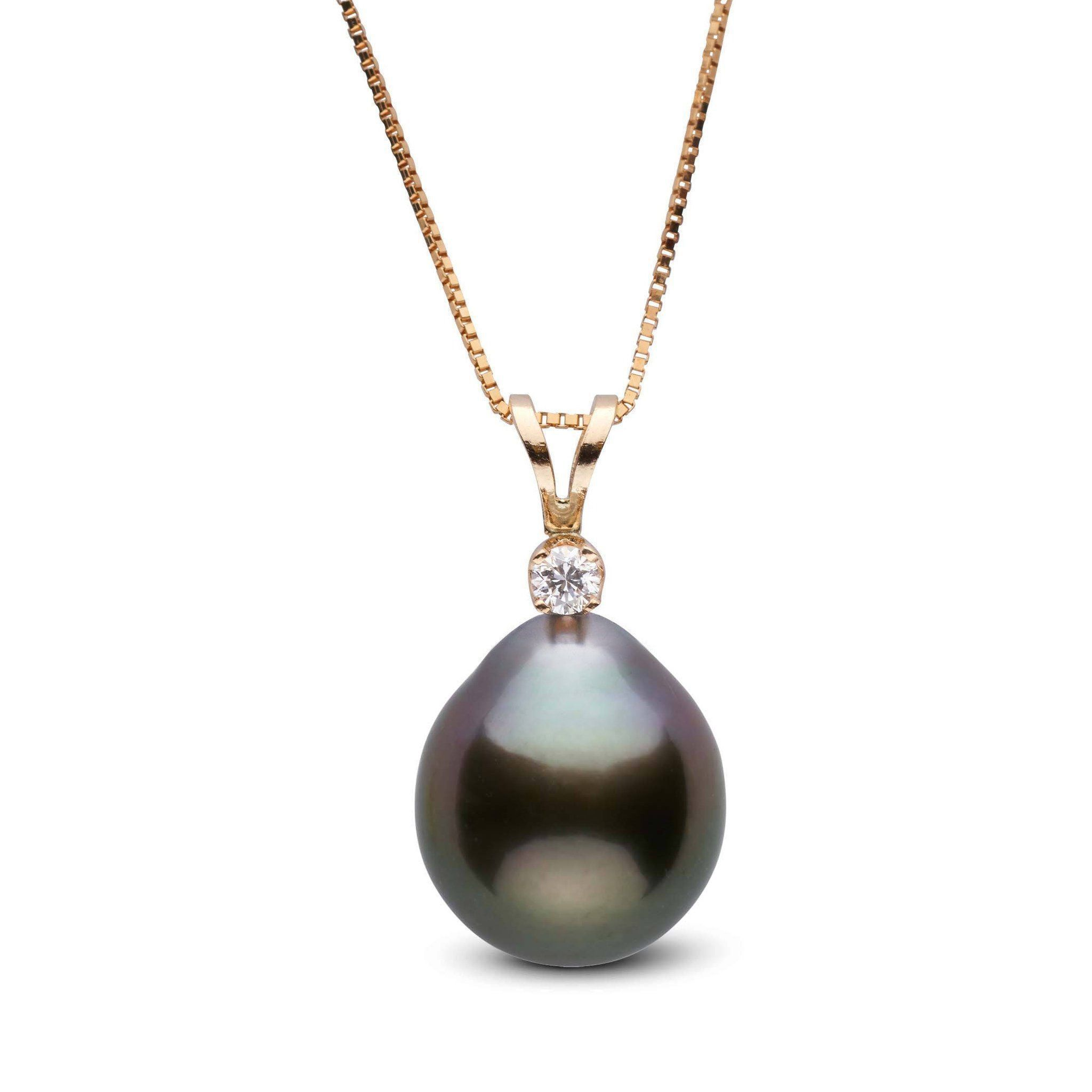 Harmony Collection 11.0-12.0 mm Drop Tahitian Pearl & Diamond Pendant