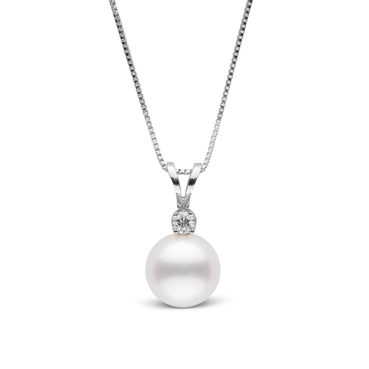 Harmony Collection 8.0-9.0 mm Freshadama Freshwater Pearl & Diamond Pendant
