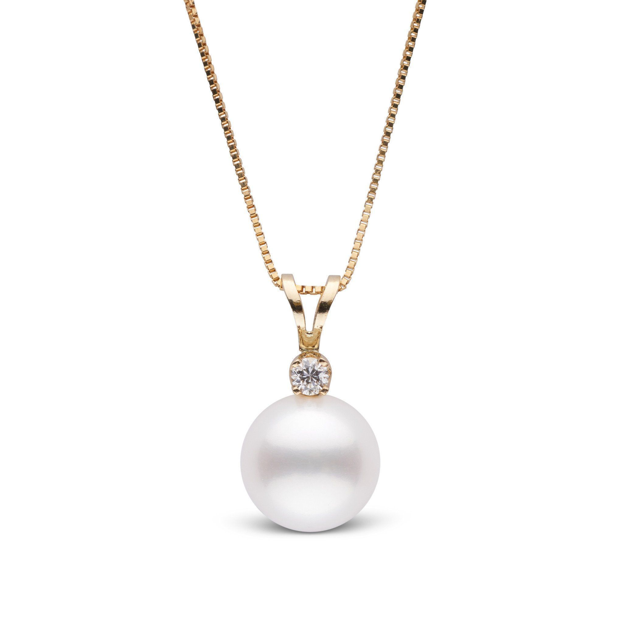Harmony Collection 9.0-10.0 mm Freshadama Freshwater Pearl & Diamond Pendant