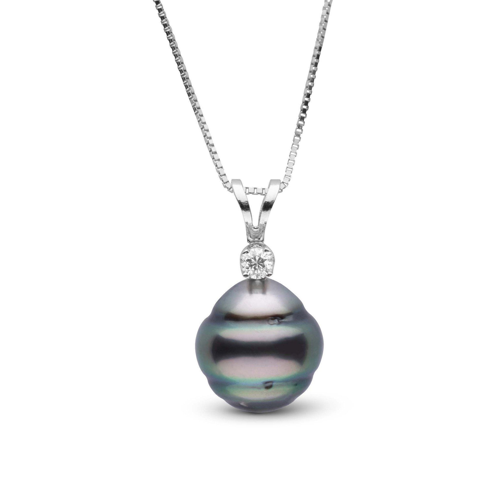 Harmony Collection 9.0-10.0 mm Tahitian Baroque Pearl & Diamond Pendant