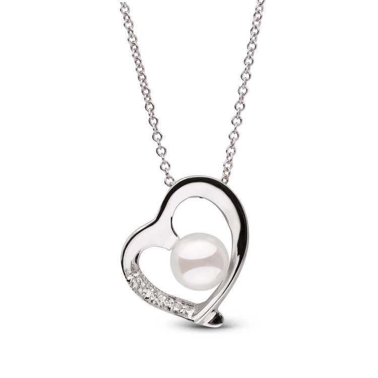 Heart Collection Freshwater Pearl Sterling Silver Pendant