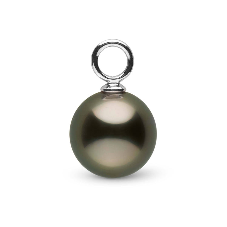 Helios Collection 9.0-10.0 mm Tahitian Pearl Earring Caps Only - Pair