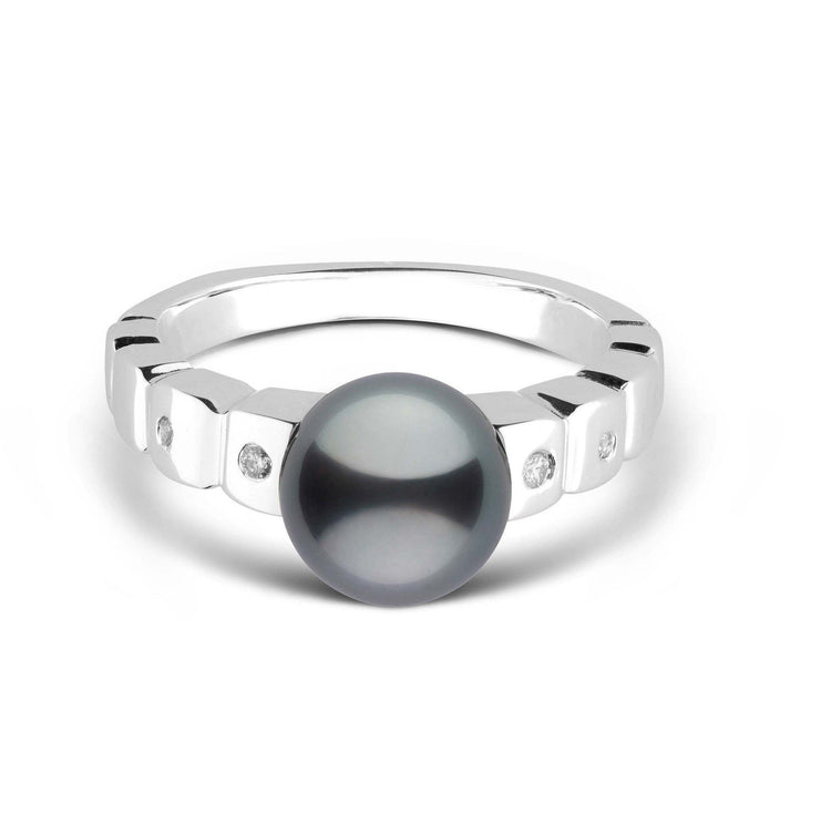 Hera Collection Tahitian Pearl and Diamond Ring