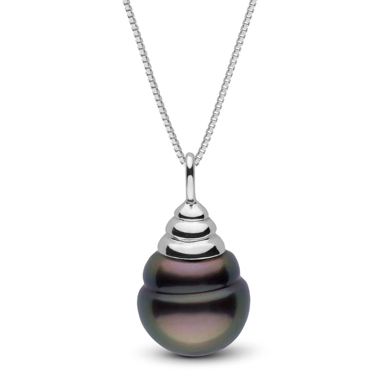 Honey Collection Tahitian Baroque 13.0-14.0 mm Pearl Pendant in Sterling Silver